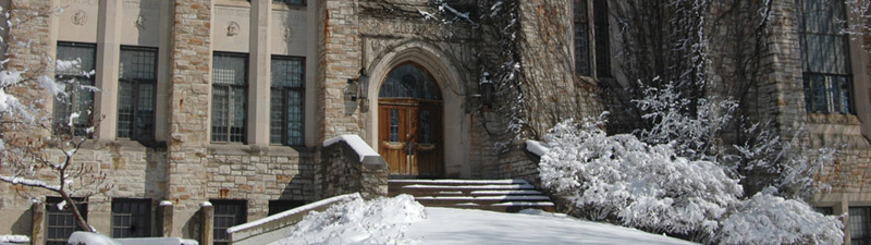 Old Rolvaag Library Entrance in Winter